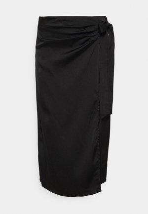 NOVA WRAP SKIRT - Jupe crayon - black