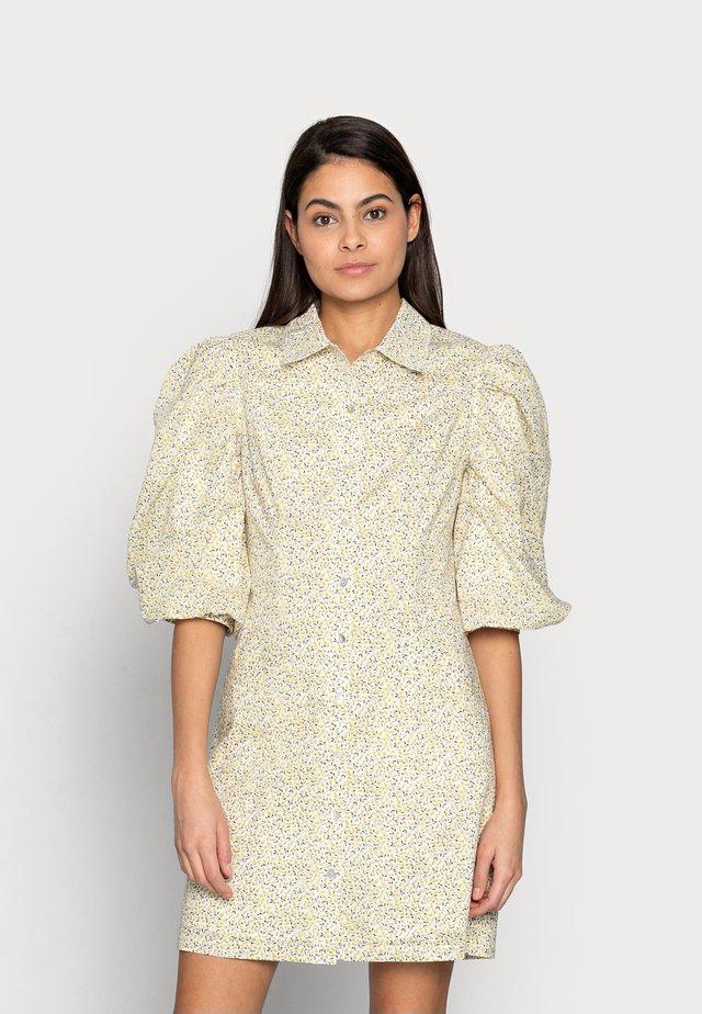 AMI DRESS - Shirt dress - yellow liberty
