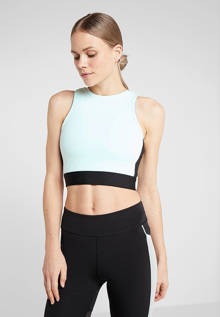 Puma - CROP - Top - fair aqua/black