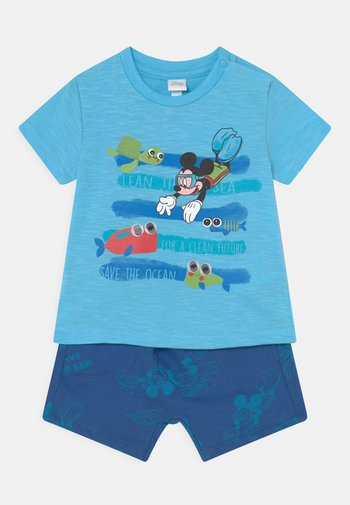 SET - Print T-shirt - blue radiance