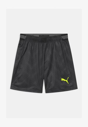 GRAPHIC UNISEX - Sports shorts - black/fizzy yellow