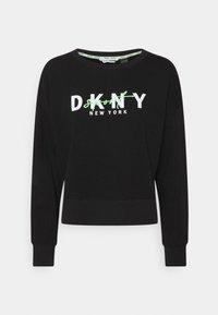 DKNY - GRAPHIC SCRIPT LOGO PULLOVER - Sweatshirt - black - 0