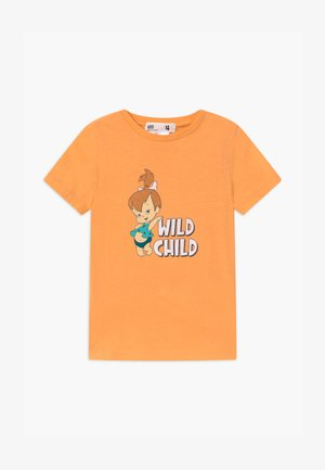 WARNER BROS SHORT SLEEVE - Triko s potiskem - papaya
