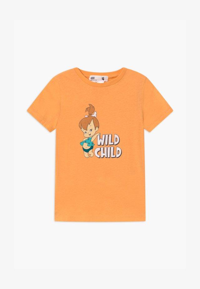 WARNER BROS SHORT SLEEVE - T-shirt med print - papaya