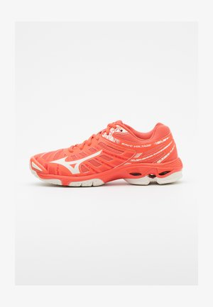 WAVE VOLTAGE - Volleyball shoes - living coral/snowwhite
