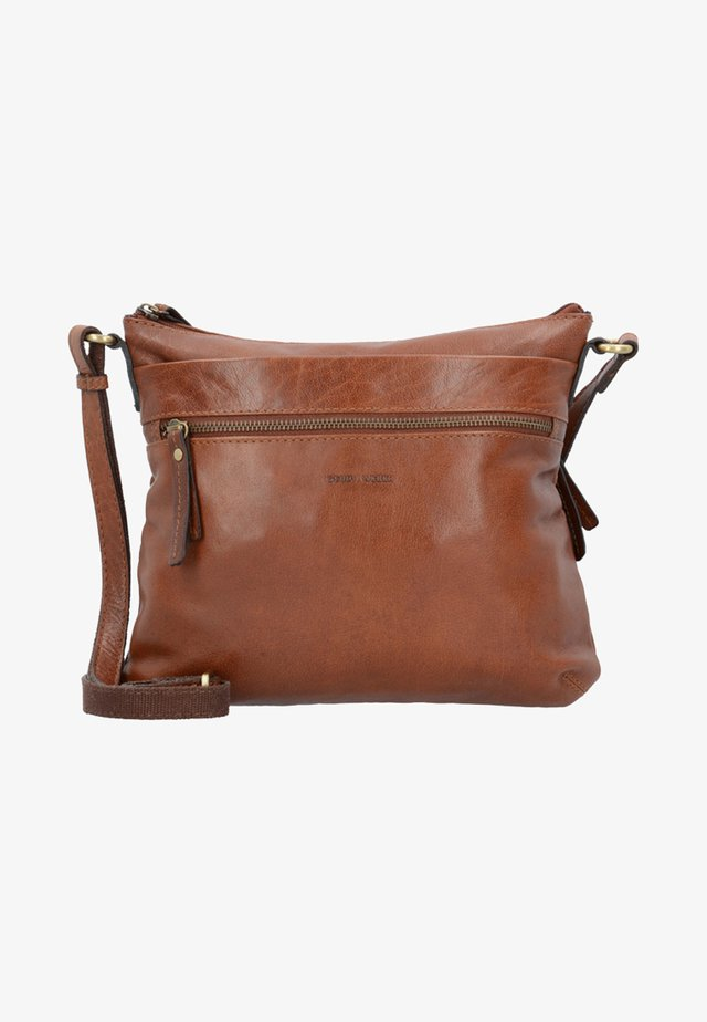LUGANO - Across body bag - cognac
