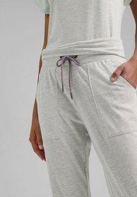Esprit Sports - FASHION - Tracksuit bottoms - light grey - 3