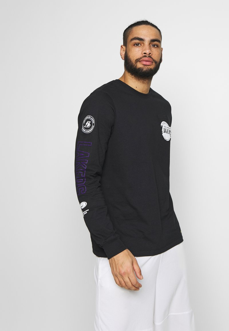 Nike Performance - NBA LOS ANGELES LAKERS LONG SLEEVE - Equipación de clubes - black