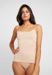 Skiny - DAMEN SPAGHETTISHIRT 2ER PACK - Maglietta intima - beige - 1