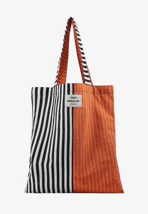 SACKY ATOMA ACCESSORIES - Shopping bag - black/white/tan/pink