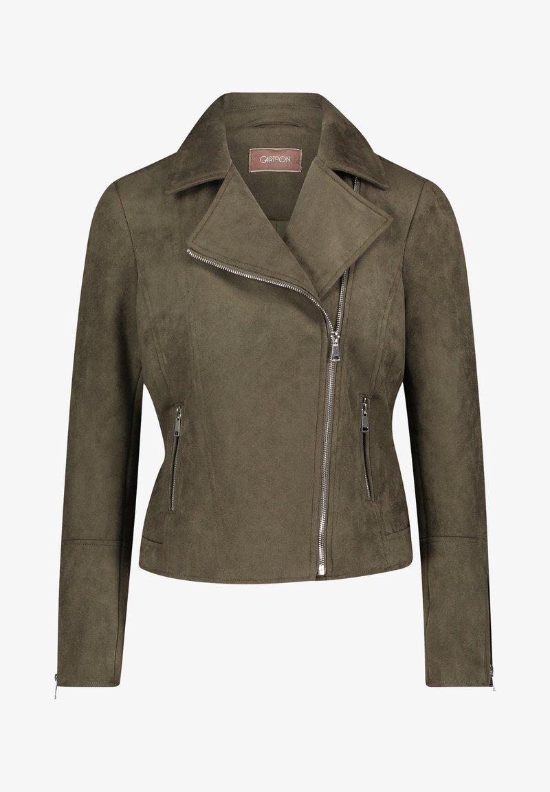 Cartoon - Faux leather jacket - dunkelgrün