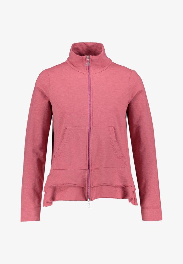 DEHA DAMEN SWEATJACKE - Zip-up hoodie - blackberry