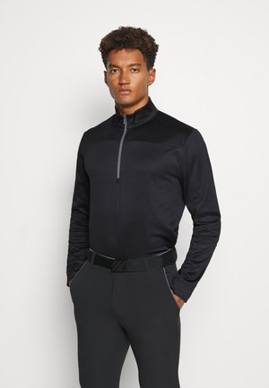 PIECED 1/4 ZIP - Bluza - caviar
