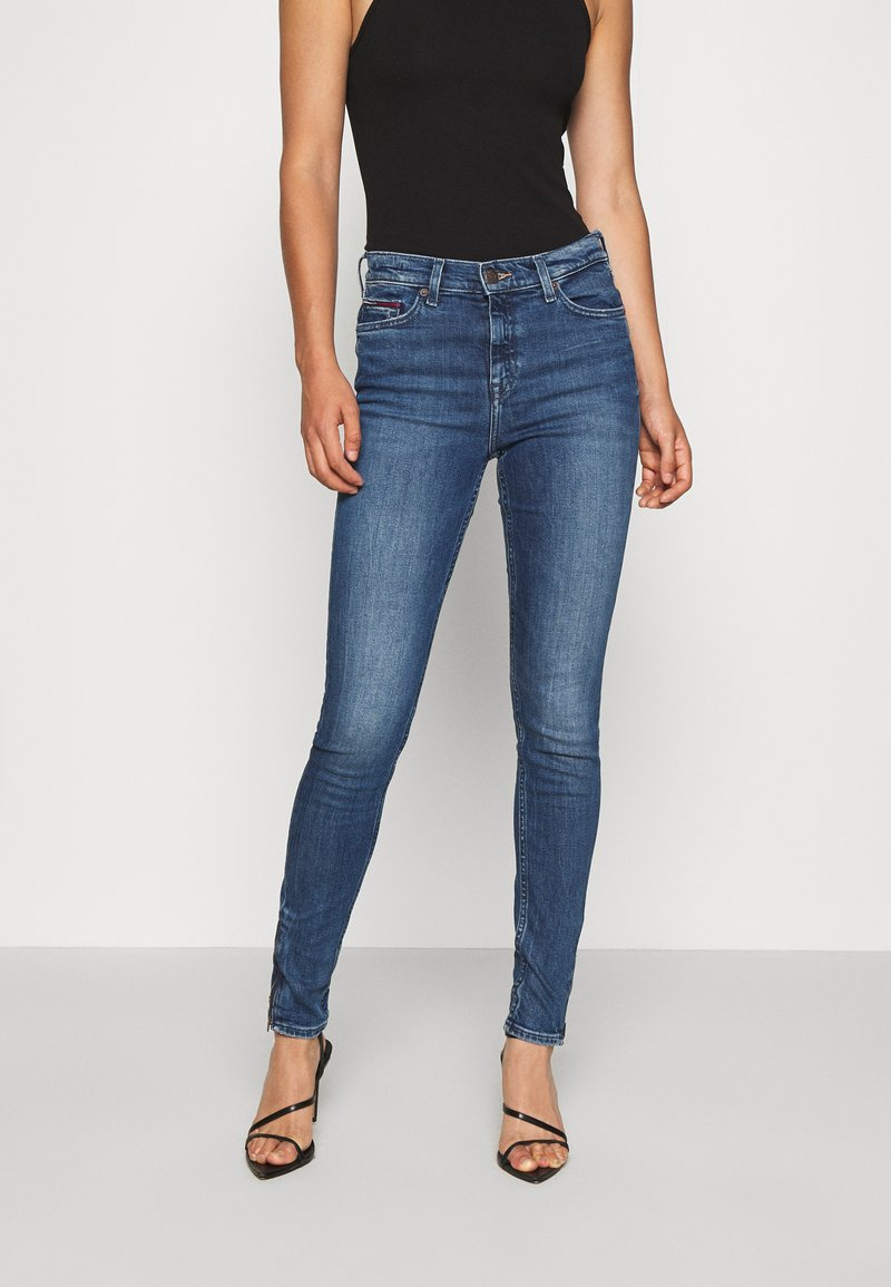 Tommy Jeans - NORA ANKLE ZIP  - Jeans Skinny Fit - jasper mid blue