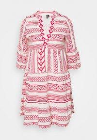 Vero Moda Petite - VMDICTHE TUNIC - Day dress - birch/goji berry - 0