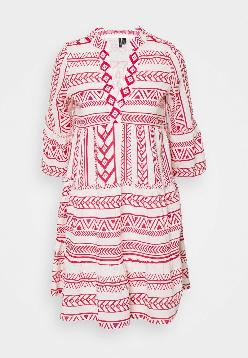 Vero Moda Petite - VMDICTHE TUNIC - Day dress - birch/goji berry