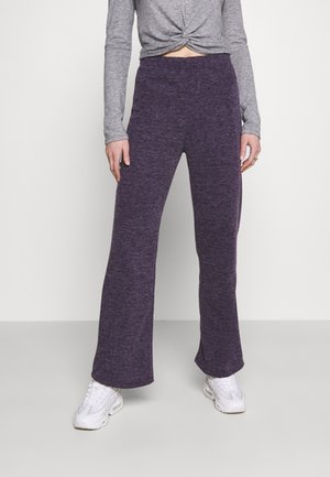 TRACEY TROUSERS - Trousers - purple marl