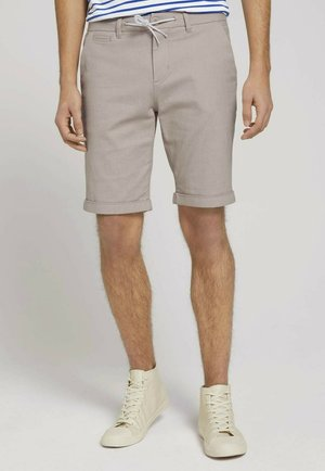 Shorts - beige white dobby