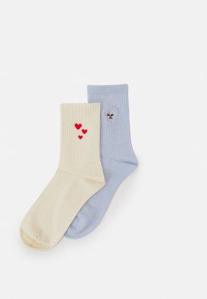 LUCY SOCK 2 PACK - Socks - white/blue
