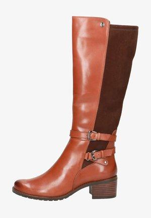 Boots - cognac comb