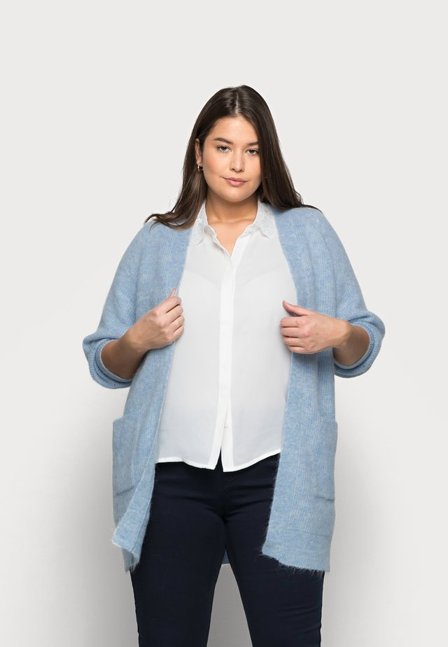 SLFLIA LONG CARDIGAN - Vest - cashmere blue