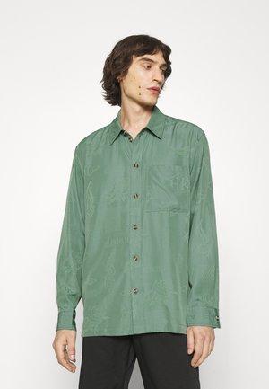 BOXY SHIRT LONG SLEEVE - Shirt - dusty green