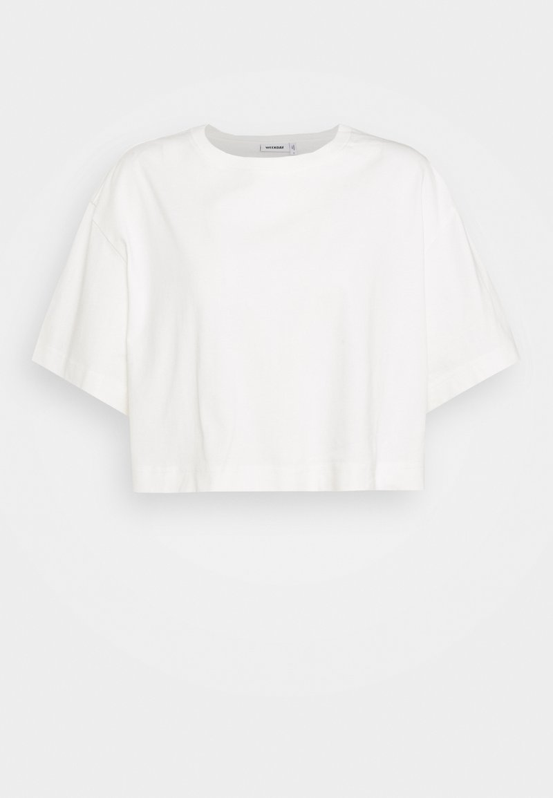 Weekday - ALLY - T-shirts - white