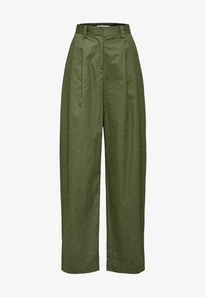 Trousers - laurel green