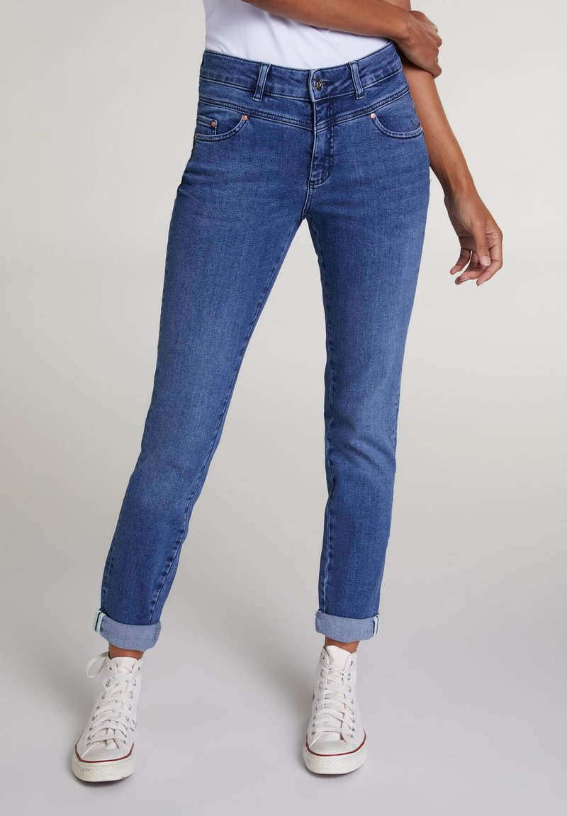 Oui - Slim fit jeans - blue denim