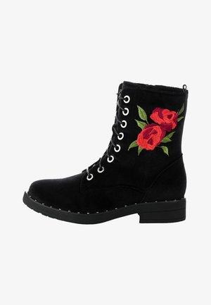 MANDIA - Bottines à lacets - black