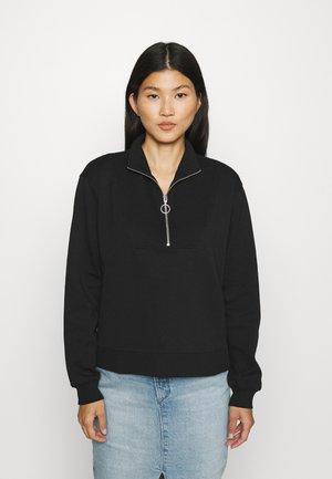 LONGSLEEVE TROYER TRACKSUIT STYLE - Sweatshirt - black