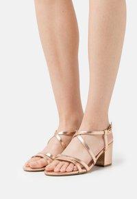 Even&Odd Wide Fit - WIDE FIT - Sandals - rose gold - 0