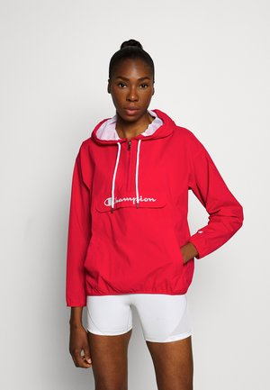 HALF ZIP - Windbreaker - red
