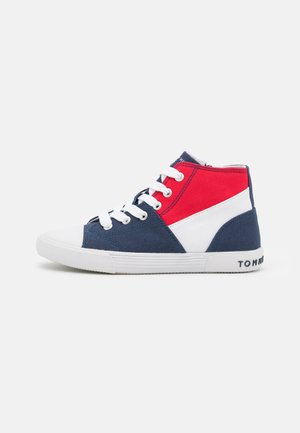 UNISEX - High-top trainers - blue/white/red