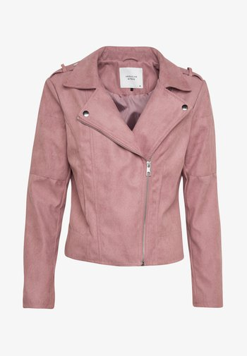 JDYPEACH BIKER - Faux leather jacket - wistful mauve