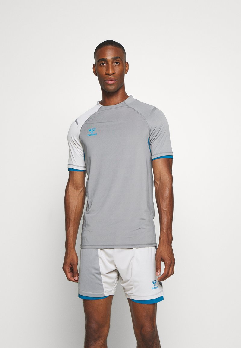 Hummel - Print T-shirt - sharkskin/gray violet