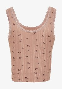 BDG Urban Outfitters - DITSY POINTELLE TANK - Top - rose
