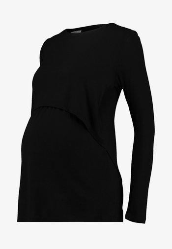 MATERNITY - Long sleeved top - black