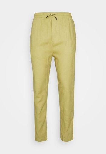 CROPPED PANT - Spodnie materiałowe - kaki