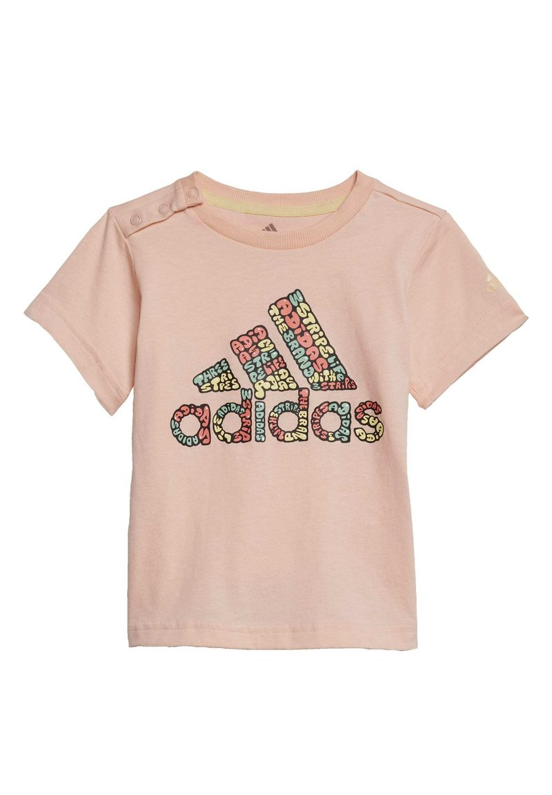 adidas Performance - LOGO T-SHIRT - T-shirt print - pink