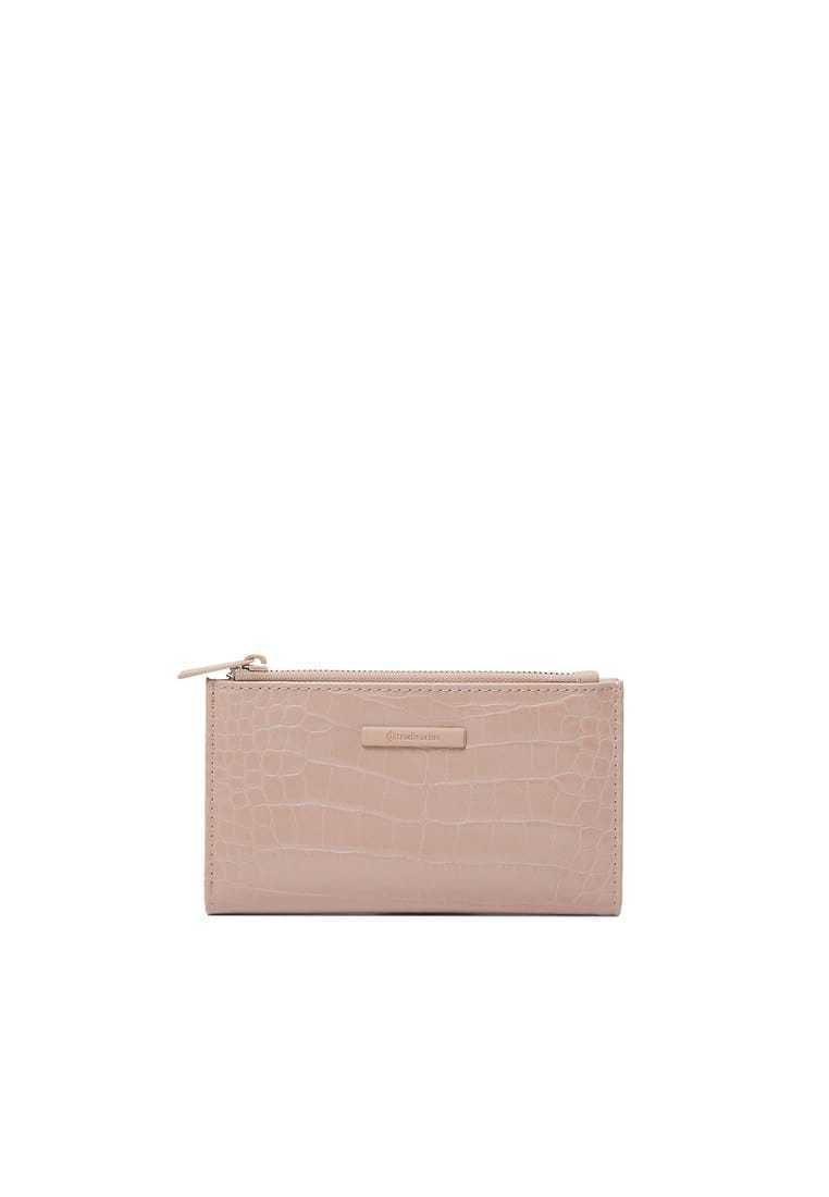 Stradivarius - MIT PATCHWORK - Wallet - pink
