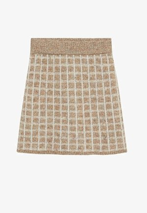 Mini skirt - marrone medio