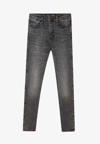 Stradivarius - MIT HOHEM BUND - Jeans slim fit - dark grey - 4