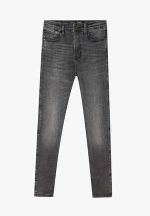 MIT HOHEM BUND - Jean slim - dark grey