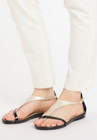 IZIA - T-bar sandals - gold - 0