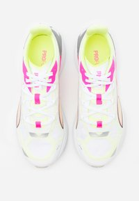 Puma - ULTRARIDE - Neutral running shoes - white/luminous pink/fizzy yellow - 3