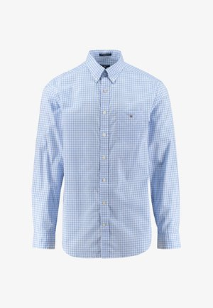 REGULAR FIT LANGARM - Shirt - blau