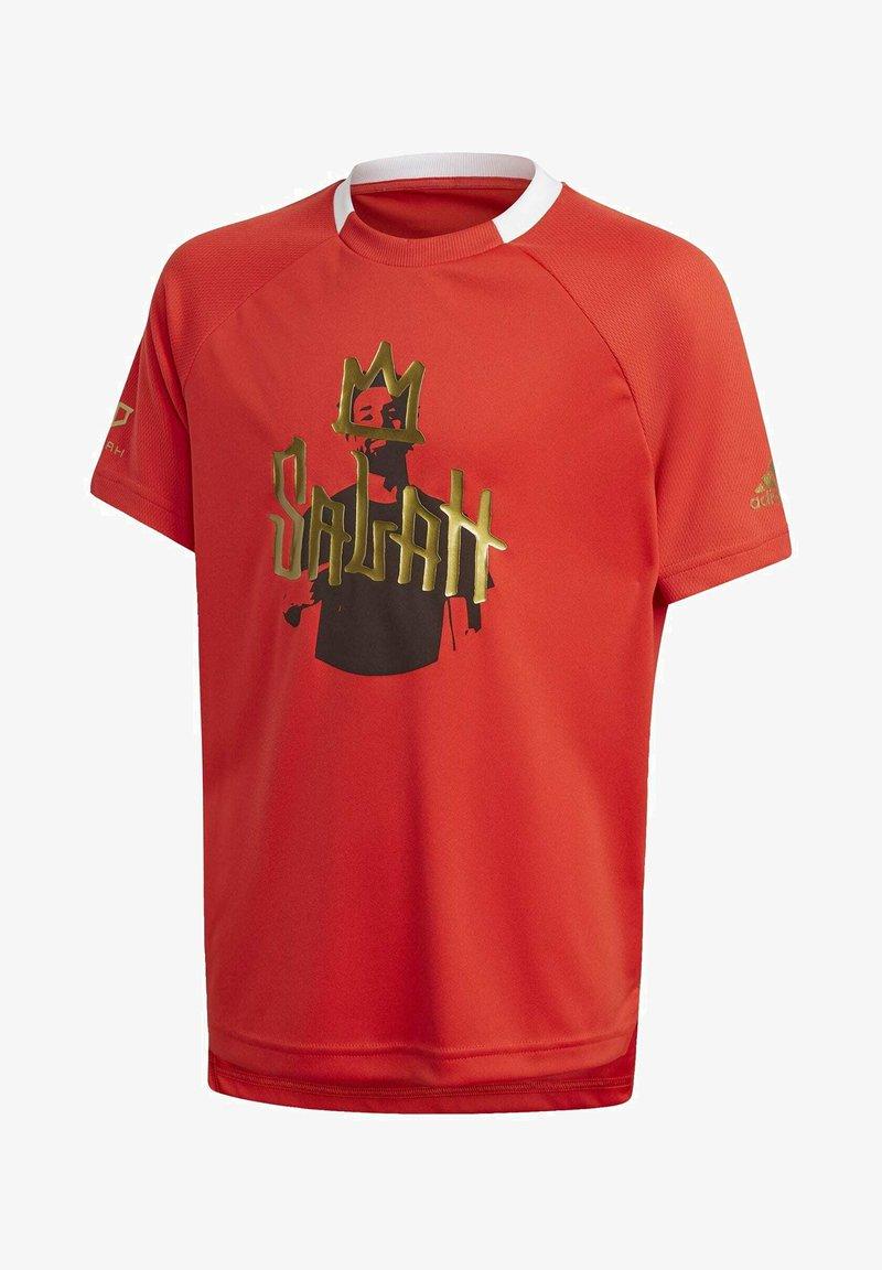 adidas Performance - SALAH FOOTBALL INSPIRED T-SHIRT - Print T-shirt - red