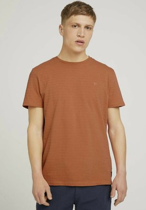Print T-shirt - orange lobster melange