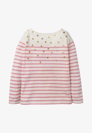 BRETON - Long sleeved top - naturweiß/rosa, glitzerpunkte